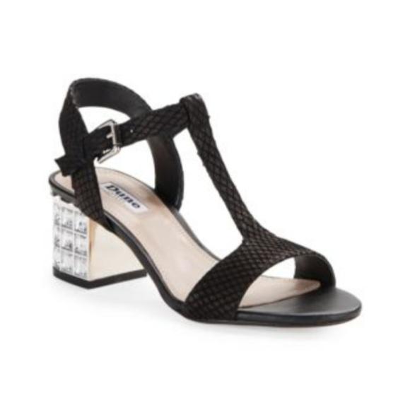 b7d338f6b1364 Dune London Shoes - Dune London Million Jeweled Heel Leather Sandals